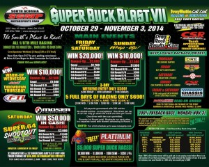 Super Bucks Blast; Oct. 29 – Nov. 3