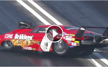 VIDEO: Pro Mod Driver Pete Farber hits the wall in St. Louis