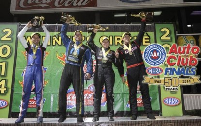 Auto Club NHRA Finals Event Coverage and Photos; Enders on top!