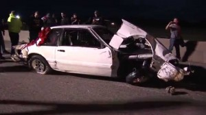 Watch this – Big Baller Coupe Crashes at No Prep Race